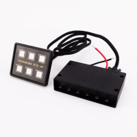 12V/24V 6 Gang Slim Control Multifunction Led ABS Easy Installation For Car Marine Boat Panel Switch Box Thin Waterproof