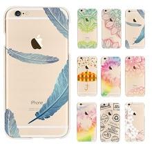 Chuvas cor padrão transparente tpu macio caso de telefone coque para apple iphone 6 6 s deixa voltar abranger os casos