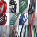 10 Colors 5mm Braided Faux Leather Silk Cord available for making Bracelet Necklace x 5 Metres