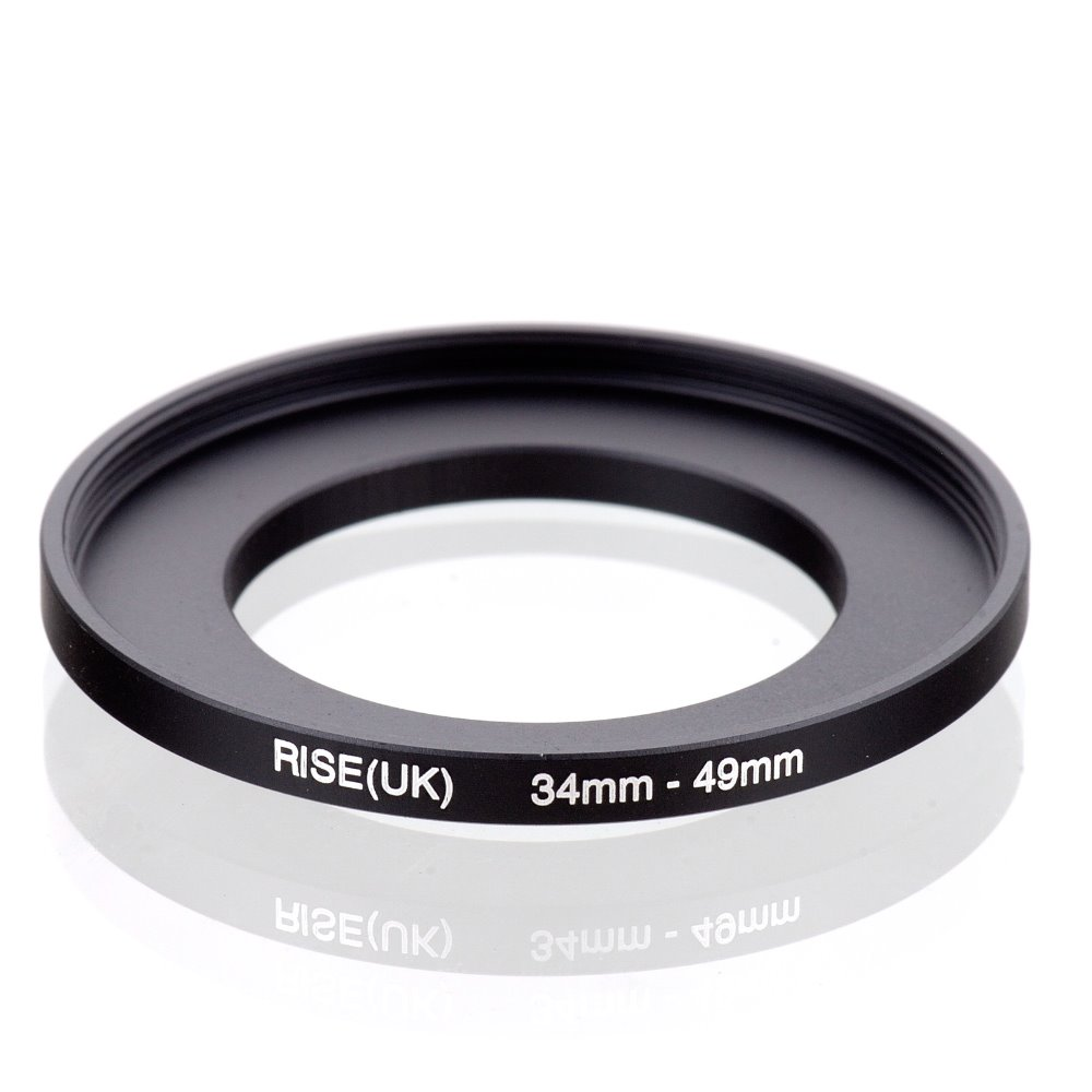 original RISE(UK) 34mm-49mm 34-49mm 34 to 49 Step Up Ring Filter Adapter black free shipping