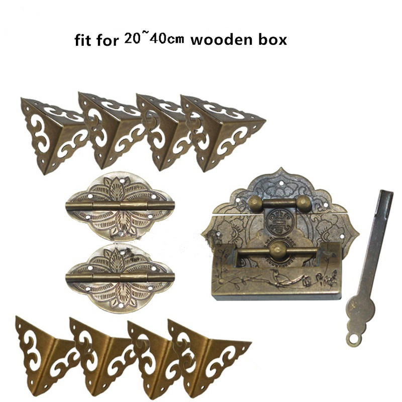 Antique Brass Lock Set,Fit For Wooden Box,Vase Buckle Metal Box Hasp Latch Brass Lock,Decorative Hasp,Pattern Carved Hinge Set anti fatigue 300 degree resin lens presbyopia reading glasses golden black