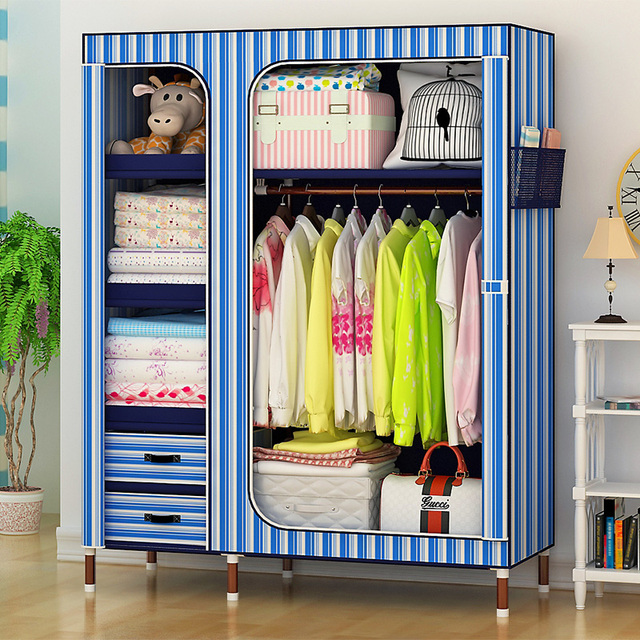 2017 New Best-selling L135XD46XH173cm DIY Wardrobe/Closet/Folding Storage Cabinet/Dust-proof Storage Racks Furniture/8 Colors