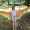 Portable Hammock 200 150cm For 2 Person Camping Backpacking Hiking Woven Cotton Fabric Tender Green Striped