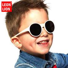 Leonlion 2021 модные круглые детские солнцезащитные очки яркие