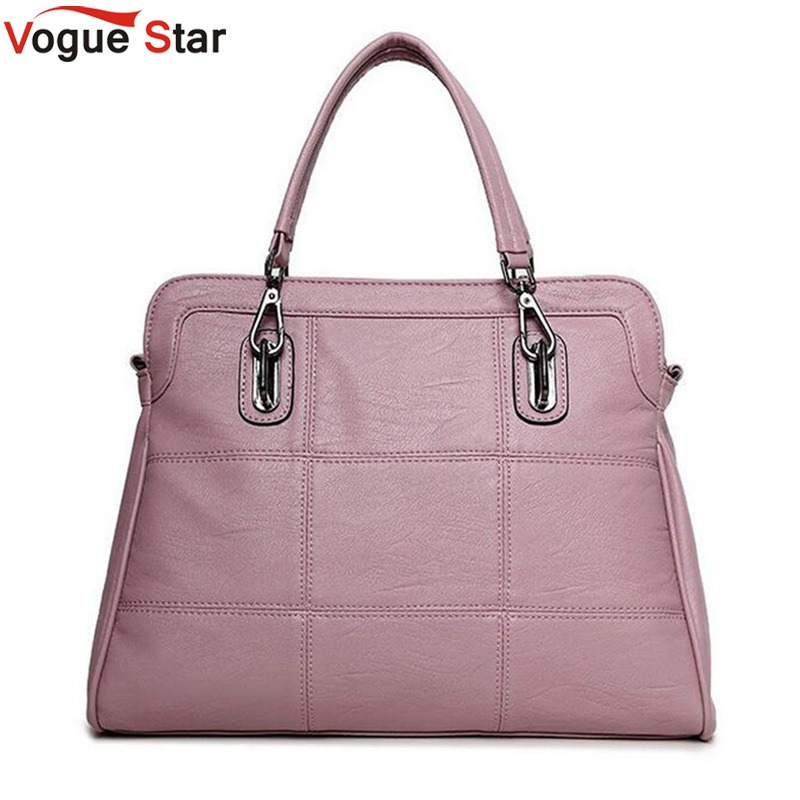 Vogue star pu leather women handbag spring female shoulder bag fashion ladies totes big brand ipad pink crossbody women bag LB88