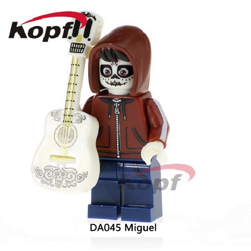 DA045 Single Sale The Day Of The Dead Coco Movie Hector Miguel Building Blocks Bricks Best Collection For Children Gift Toys wange mechanical application of the crown gear model building blocks for children the pulley scientific learning education toys