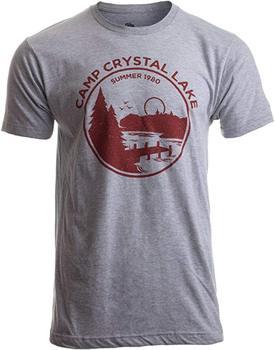 Ann Arbor T-shirt Co. 1980 Camp Crystal Lake Counselor Funny 80s Horror Movie Fan Film Joke T-Shirt