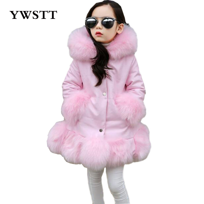 цена Girls fake fur coat girls Faux Fox Mink Fur Coat Girls Warm Luxury Medium Long Fake Fur Coats Coat Warmer jacket