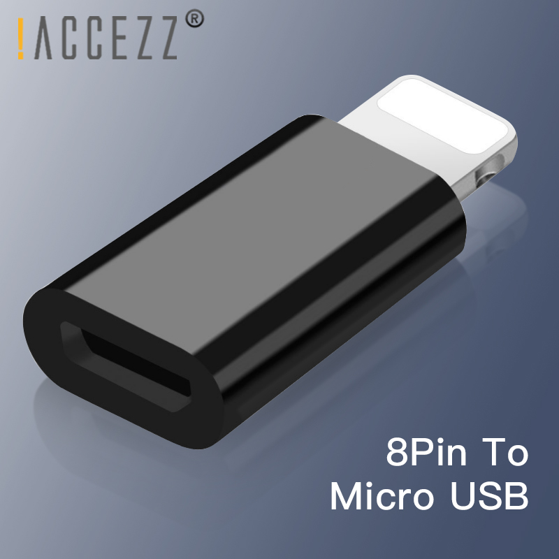 !ACCEZZ 3PC 5PC Mini Alloy Micro USB To Lighting OTG Adapter 8 Pin For Iphone X XS MAX XR 6 7 Plus Sync Data Charging Converter
