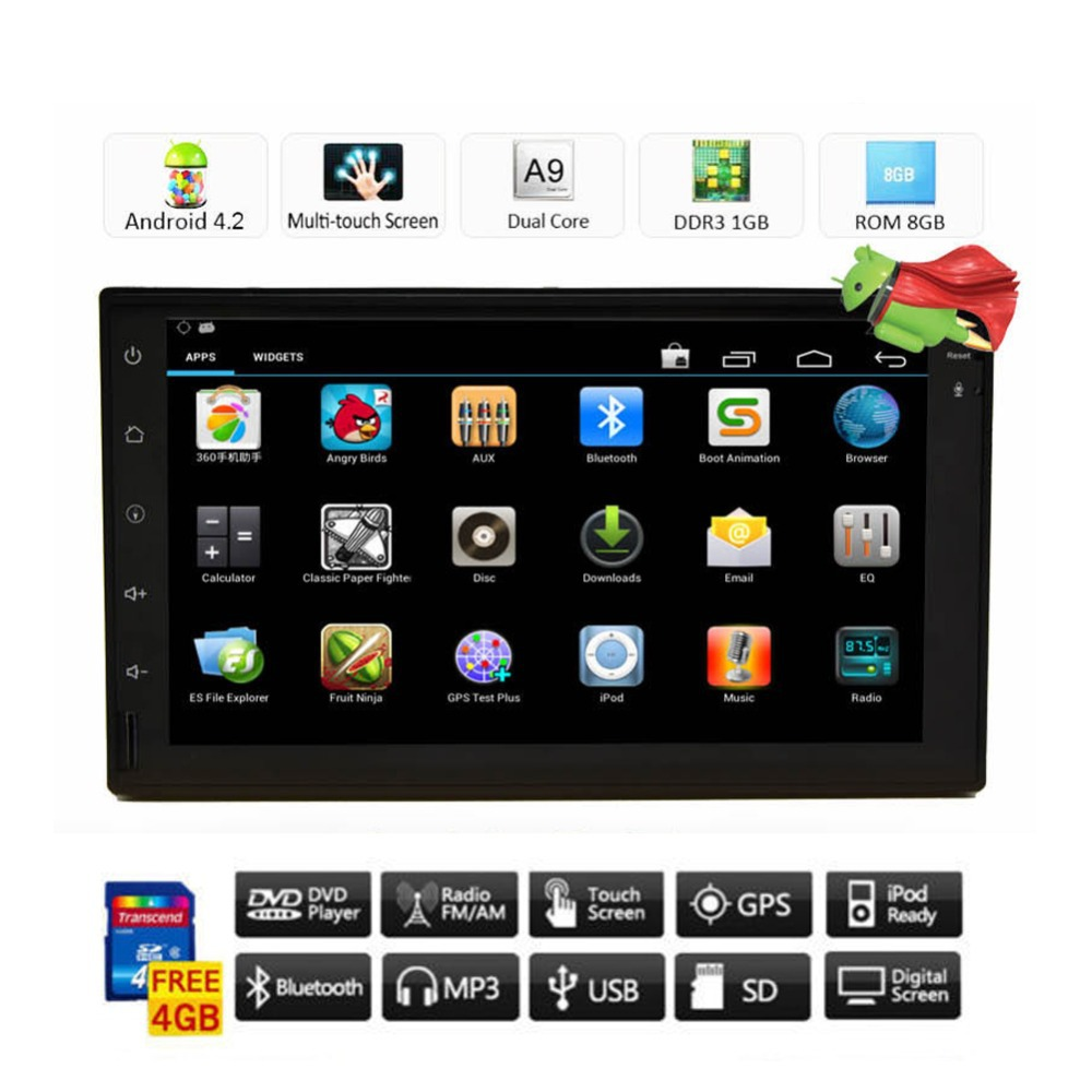 Latest Double 2 Din 7'' HD Android 4.2 In Dash GPS