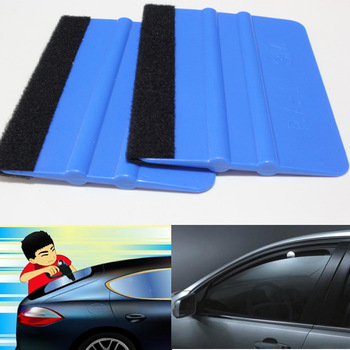 99 x 72mm Felt Edge Squeegee Car Vinyl Wrap Application Tool Scraper Decal For Car Foil Square Scraping no sticker Car-styling image
