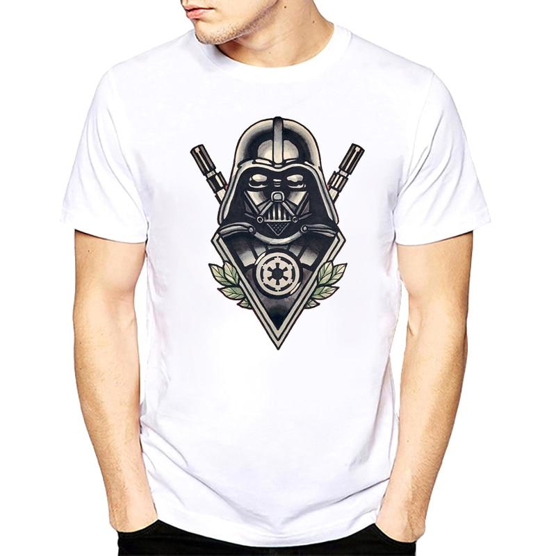 star war T-shirts printed t shirt men Funny novel men s top tees Harajuku Style warrior t shirt Darth Vader camiseta s-xxxl