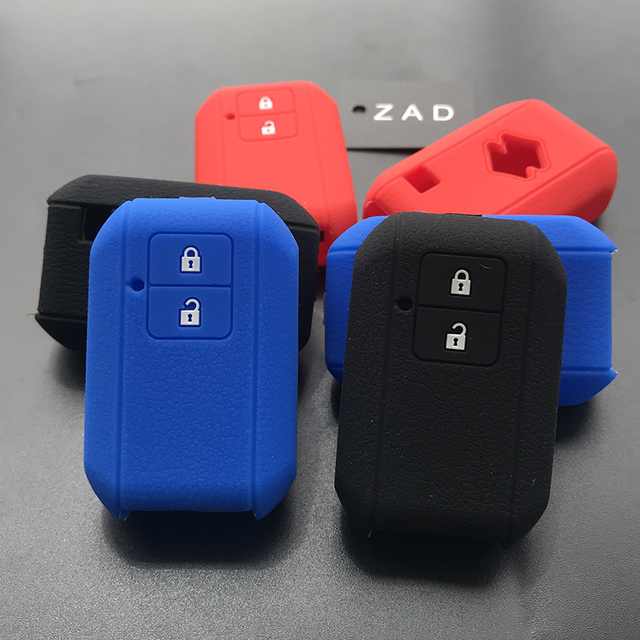 ZAD silicone rubber car key cover case set for suzuki new swift 2017 wagon R Japanese monopoly type 3c 2button remote key holder