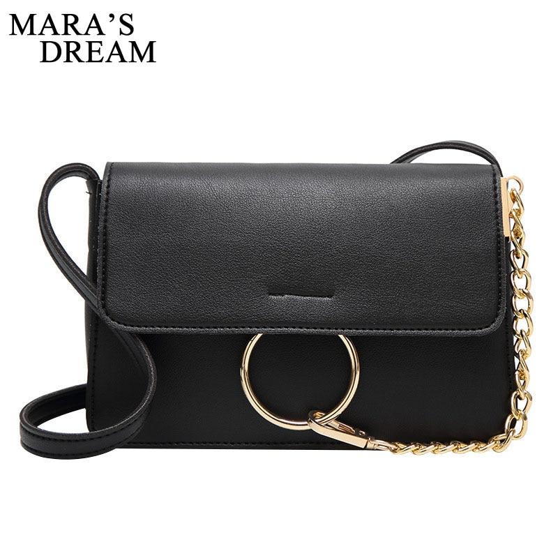 Maras Dream Fashion Women Messenger Bag Quality PU Leather Womens Flap Chain Strap Female Shoulder Bag Ladies Crossbody Bags