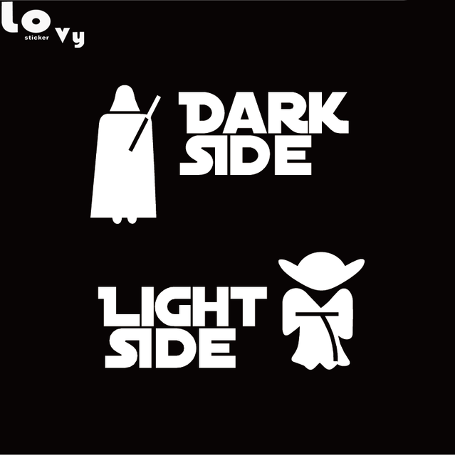Online Shop Star Wars Car Sticker Dark Side Light Side Car Decal - Star wars car decals