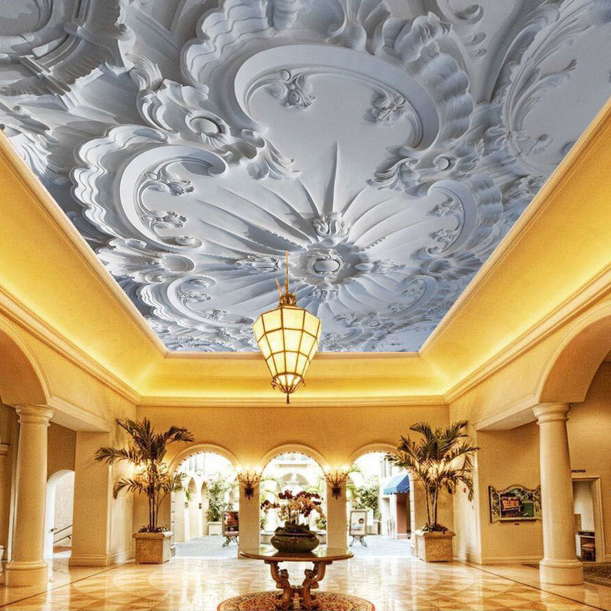 Stereo Gypsum Papel 3d Murals Ceiling Wallpaper Flower 3d Murals for Living Room 3D Ceiling Wall paper 3d Photo Murals 3d murals wallpaper for living room abstract tree image wall living 3d wallpaper 3d bathroom wallpaper