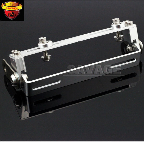 Motorcycle Universal 180 degree Adjustable License Number Plate Holder Mount Bracket Registration Plate Holder Silver motorcycle tail tidy fender eliminator registration license plate holder bracket led light for ducati panigale 899 free shipping