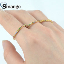 5 Pieces,Women Fashion Jewelry,The Rainbow Series Laciness Rings,Gold Plating Pave Setting CZ Rings