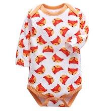 Одежда для маленьких девочек; боди для новорожденных мальчиков; боди с длинными рукавами из хлопка; одежда для детей 3, 6, 9, 12, 18, 24 месяцев