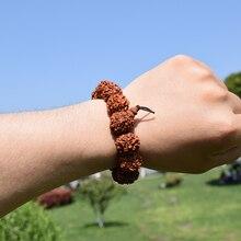 Модный непальский рудракша мужской браслет Природа 18 мм 6 мухи бусы из плодов Рудракши браслеты мужские ручной работы Будда ювелирные изделия для медитации подарки