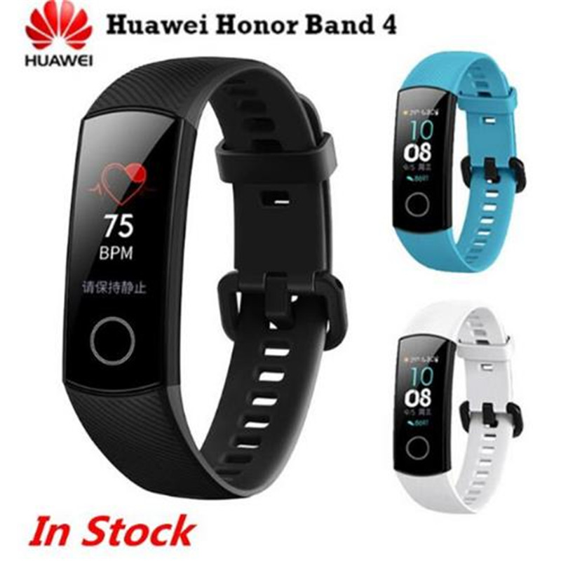 Original Huawei Honor Band 4 Smart Wristband Amoled Color 0 95 Waterproof Touchscreen Swim Posture Detect