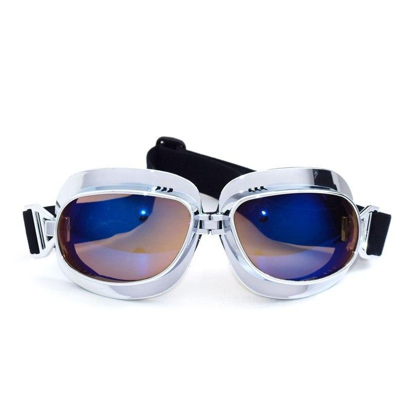 NEW Vintage Motorcycle Glasses Goggles ATV Motocross Anti-UV Skiing Snowboard Sunglasses Anti-UV Scooter Helmet Glasses Off-Road
