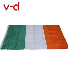 free  shipping  xvggdg  Ireland Flag 90*150cm / 3*5 FT Big Hanging Ireland Eire National Country Flag Banner