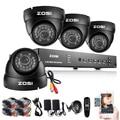 8CH Sistema CCTV 8CH DVR de Red 4 UNIDS ZOSI 900TVL IR Resistente A la Intemperie Cámara de Seguridad Para el Hogar Sistema de Vigilancia Kits