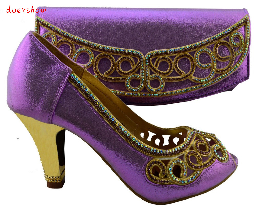 doershow Italian Shoes With Matching Bag High Quality  Size 38-42 purple !HZL1-25 светильник уличный feron 11244