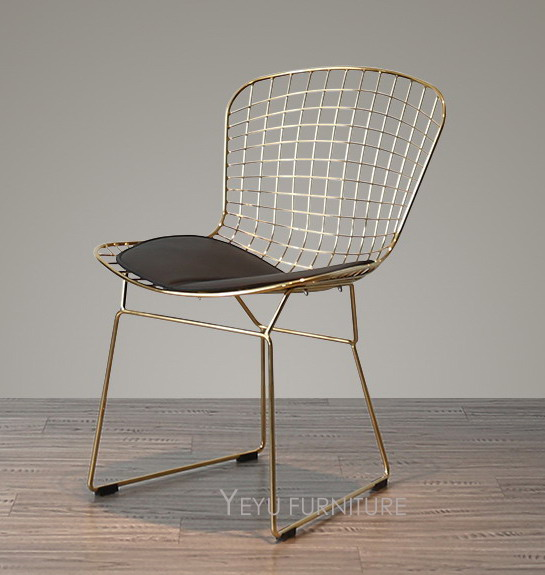 Rose Gold Or Gold Color Bertoia Wire Chair Modern Classic Wire Bertoia Chair Harry Bertoia Steel Wire Side Chair Loft Chair 2PCS-in Dining Chairs from ... & Rose Gold Or Gold Color Bertoia Wire Chair Modern Classic Wire ...