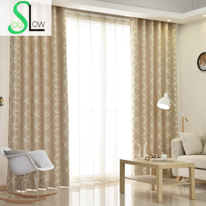 Red And Gray Kitchen Curtains: Slow Soul Gray Khaki Pink Cotton Jacquard Curtain Japan Geometric Curtains Cortinas For Living