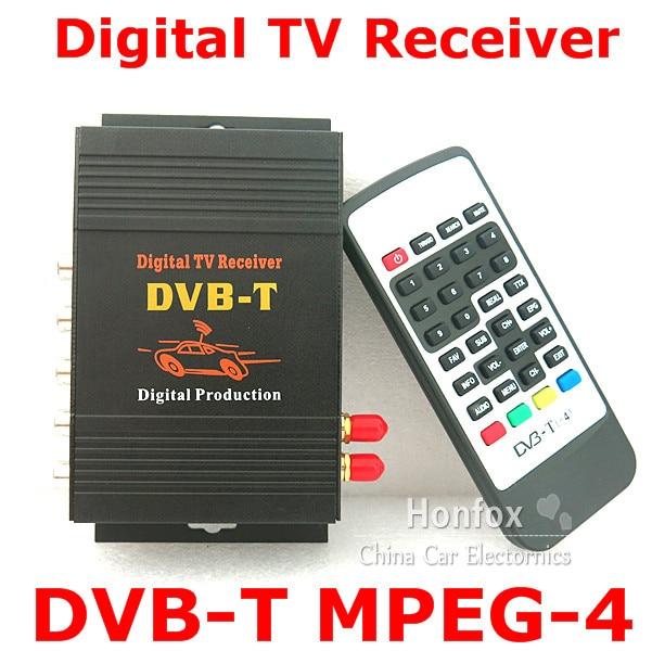 Dual  tuners Car Mobile high speed DVB-T MPEG2 and DVB-T MPEG4 AVC/H.264  Digital TV Receiver Box F European & Australia