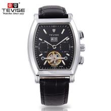 Lujo Original de la Marca Tonneau Reloj Hombres Reloj Mecánico Clásico de Zafiro Resistente Al Agua Reloj de Los Hombres Reloj de Acero Inoxidable Reloj de Pulsera