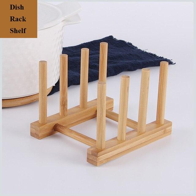 3/6 Layer Bamboo Dish Rack Kitchen Organizer Drying Rack Drainer Storage Holder Kitchen Accessories Organizer Dish Drainer Shelf 3
