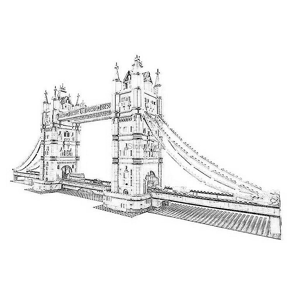 30001 4295 sztuk miasto tower bridge lele building block 10214 cegły zabawki w Klocki od Zabawki i hobby na  Grupa 1