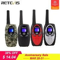 2 шт. RETEVIS RT628 мини двухканальные рации дети радио 0,5 Вт UHF частота, переносной радиоприемник станции ручной подарок