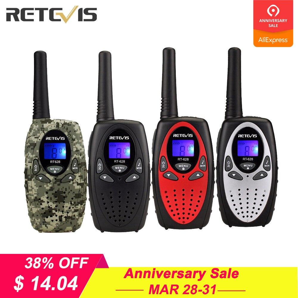 2 piezas RETEVIS RT628 Mini Walkie Talkie niños Radio 0,5 W de frecuencia UHF Radio portátil de la estación de Radio de mano regalo