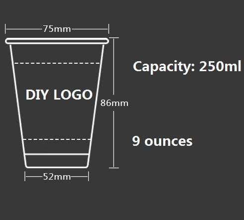 4y4a 500pcs diy logo paper cups advertising cups free design logo
