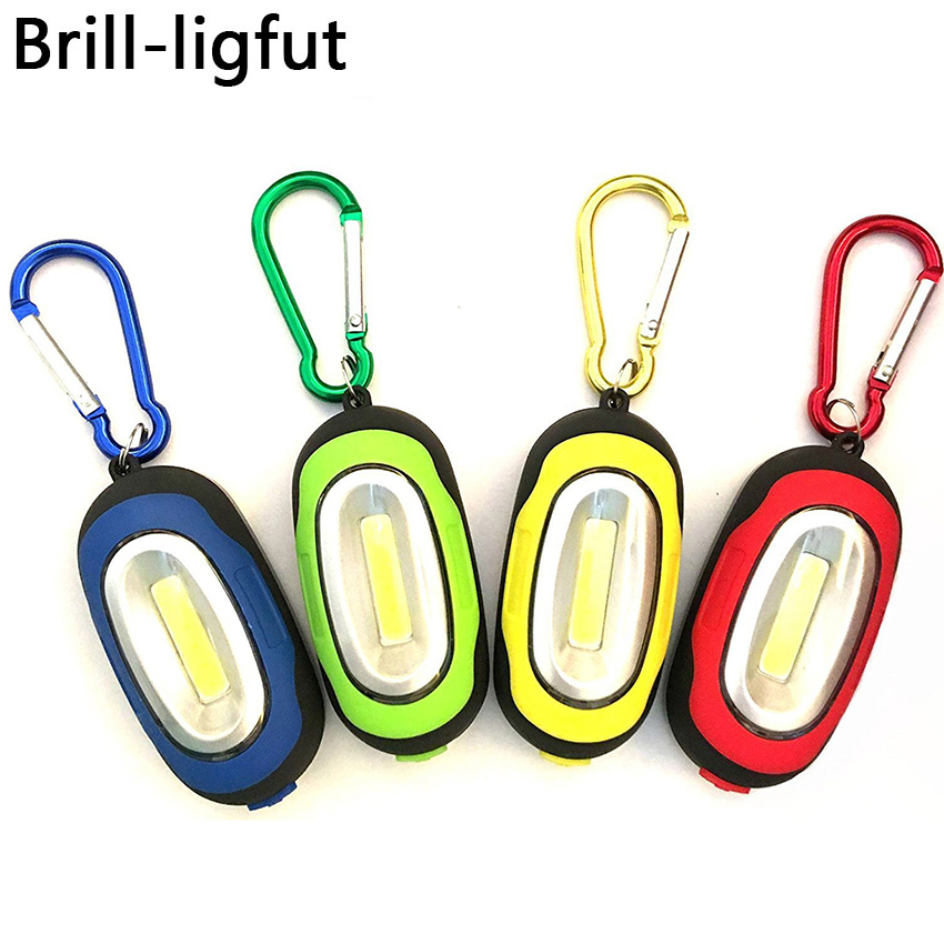 Portable Mini 3 Modes COB LED Keychain Flashlight With Magnet Keychain Flash Light Lamp Pocket Torch Emergency Camping Light