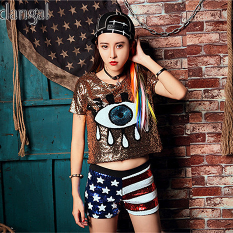 ... Stage Dance Club Party Free Shipping. One size. T-shirt  Shoulder 39cm  Length 50cm faaf9f3e21ad
