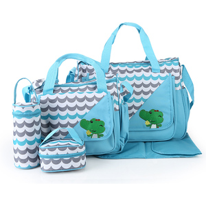 Image 2 - MOTOHOOD 5 adet bebek bebek bezi çantaları anne için değişen Nappy çanta setleri anne bebek bakım arabası bebek çantası organizatör 30*43*14cm