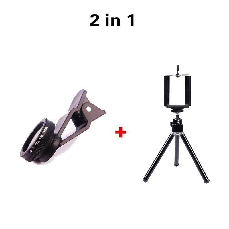 Ny typ klipp Mobiltelefon ND-filter Kameralinssats med 2in1-objektiv - Reservdelar och tillbehör för mobiltelefoner