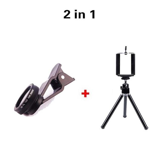 Nuevo Tipo Clip de teléfono Móvil Kit de filtro ND Lente de La Cámara con 2in1 lente gran angular 0.67x lente de marco para iphone para smartphone