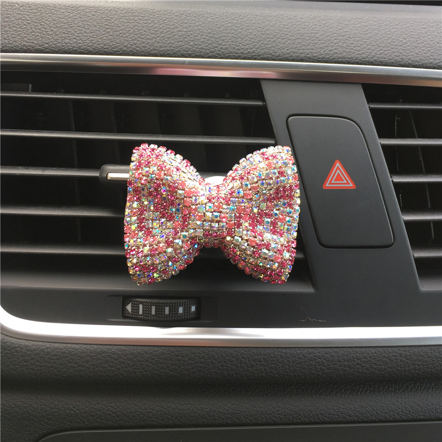 Lepo lepoto avto prodajalno okrasnih diamant kristal metulj vozel - Dodatki za notranjost avtomobila - Fotografija 2