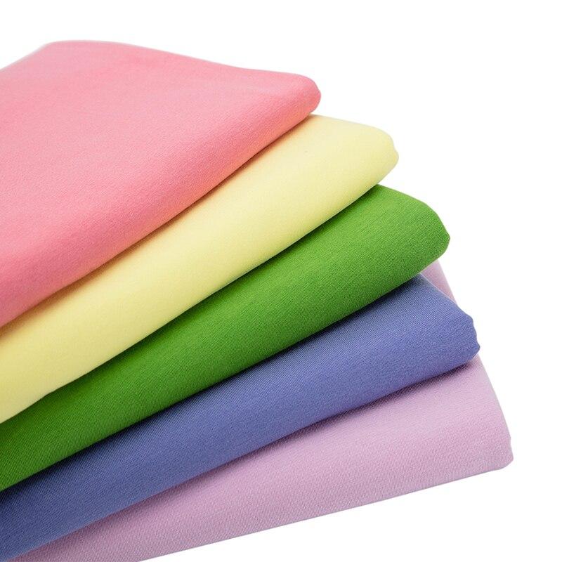 60s трикотажная хлопчатобумажная спандекс тонкая эластичная трикотажная ткань для летней футболки DIY текстиль 25*160 см/50*160 см/шт. A0219|blended fabrics|cotton spandexfabric fabric | АлиЭкспресс