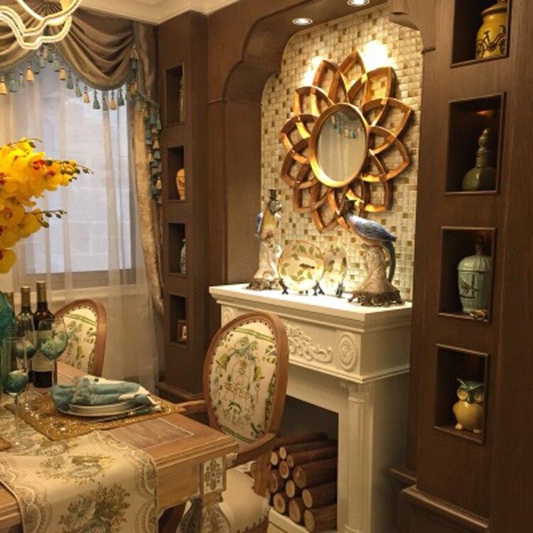 Dia78cm ヨーロッパスタイルの壁の装飾ミラー織太陽ミラーテレビの背景の浴室の装飾  グループ上の ホーム&ガーデン からの 装飾ミラー の中 2
