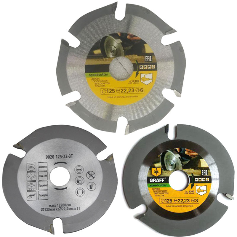 Circular Saw Blade 3T 125mm Wood Carving Disc Multitool Grinder Carbide Tipped