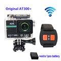 Frete grátis!! Original AT300 Além Disso WiFi 4 K Capacete Ação Câmera Full HD 1080 P com Controle Remoto + Extra 1 pcs bateria