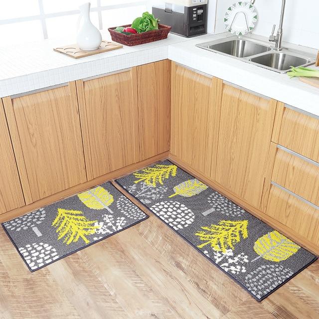 kitchen rug server pastoral plant home entrance hallway doormat anti slip bathroom carpet absorb water