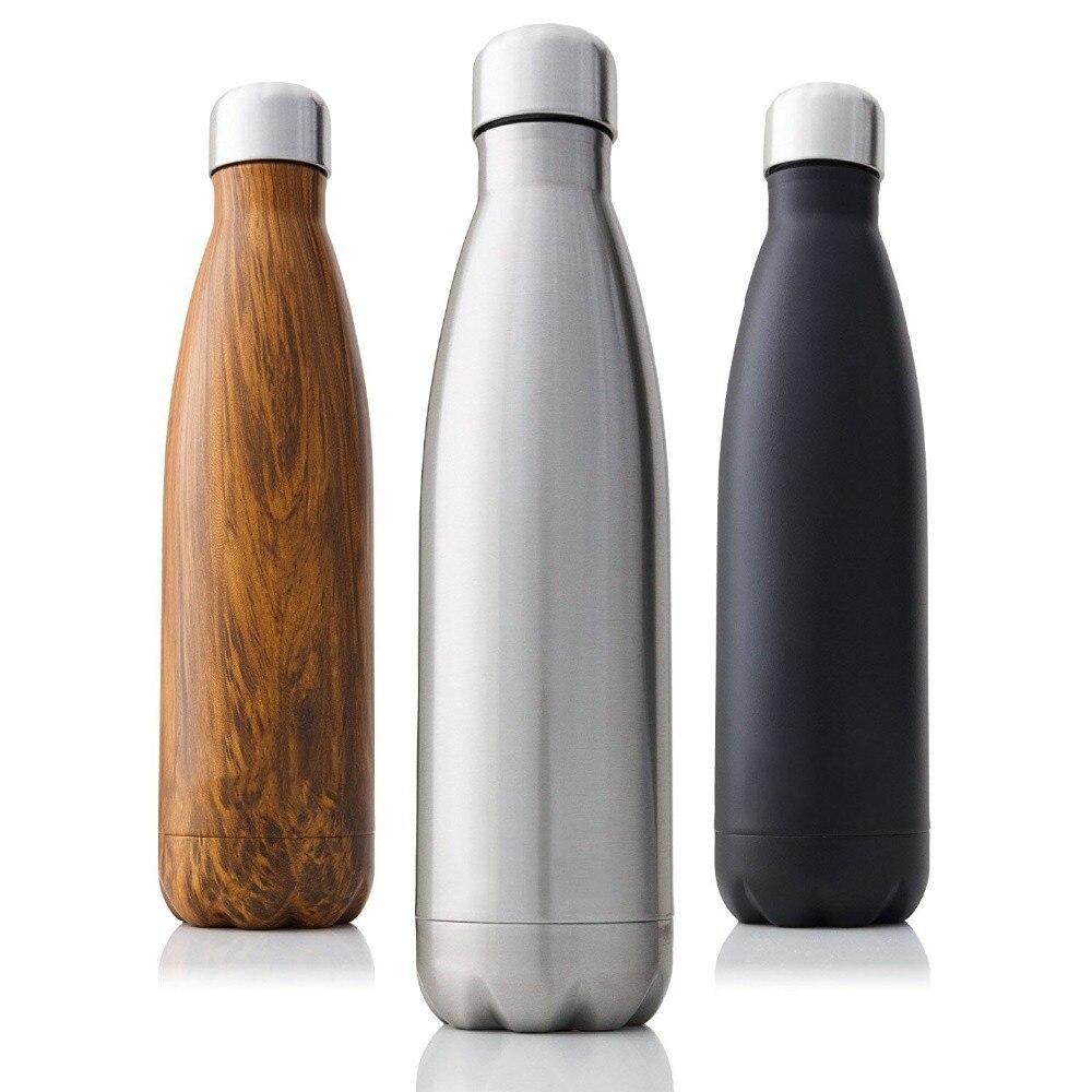 350/500/750/1000ml Doppel-Wand Isolierte Vakuum Glaskolben Edelstahl Wasser Flasche BPA FREI thermos für Sport Wasser Flaschen